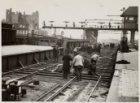 Centraal Station en de vernieuwing van brugsporen aan de oostzijde. Rechts het n…