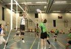 Volleybalwedstrijd in de Wethouder Verheij Sporthal, Polderweg 300