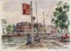 Gezien vanaf de bocht van de trambaan voor de Bakkersstraat naar Amstel 1-29