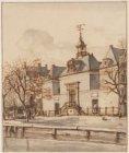 Het van Brienens Hofje op de Princegragt over de Noordermarkt