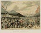 De Riviervischmarkt te zien naar de Papenbrug