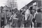 Bezoekers bij Sail '85 aan de Javakade