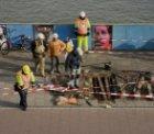 Werkzaamheden aan grondankers voor de overkapping van de busterminal op de De Ru…