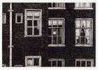 De achtergevels van Czaar Peterstraat 109-111. Voorstelling in spiegelbeeld. Tec…