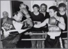 Russische boksers te gast bij boksschool Albert Cuyp, Albert Cuypstraat 241