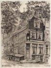 Reguliersgracht 92. Hoekhuis bij Prinsengracht met een beeltenis van een ooievaa…