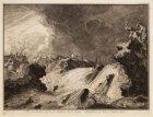 Het doorbreeken van de St. Anthonis Dyk buiten Amsterdam op den 5e maart 1651