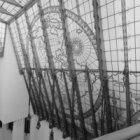 Prins Hendrikkade 108, deel van de glazen kap van het trappenhuis van het Scheep…
