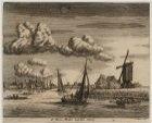 De Amstel gezien in noordelijke richting; rechts de Runmolen  aan den Omval. Tec…