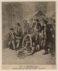 Markt op het Amstelveld waar een jongman wordt aangehouden door een van de markt…