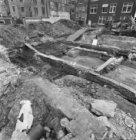Nieuwendijk ter hoogte van de nummers 154-156, opgravingen op het terrein van de…