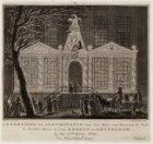 Afbeelding der Illuminatie voor het Huis van Mevrouw de Wed: de Weled: Heer A: v…