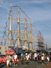 Publiek op de Veemkade bij tallships tijdens Sail Amsterdam