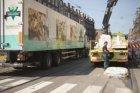 Vrachtvervoer in de De Clercqstraat
