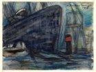 Zeeschip in de haven