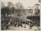 Ruïne van het Paleis voor Volkvlijt op het Frederiksplein na de brand