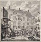 Afbeelding van het Oudezijds Herenlogement De verkoop van de schilderijenverzame…