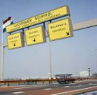 De toegang tot Schiphol-Centrum vanaf de A4