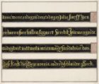 Het grafschrift aan weerszijden van het grafteken van Willem Eggert in de Nieuwe…