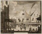 Het Kistenmakerspand, Kalverstraat 183 gezien vanaf de Heiligeweg, met links ach…