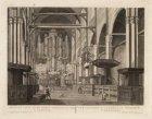 Gezicht van de Oude Kerk van binnen te zien, te Amsterdam - Vue interieure de la…