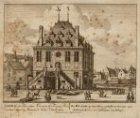 De Waagh, op den Dam, gesticht in het iaar 1561; hebbende boven een Soldaaten wa…