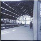 Perronoverkapping van het Weesperpoortstation aan het Rhijnspoorplein