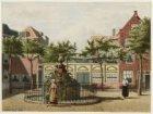 """De binnenplaats met fontein van het """"Oude Doolhof"""", Prinsengracht 338 hoek Looie…"""