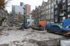 Bouwwerkzaamheden op het binnenterrein tussen Stadhouderskade 74 (links) en Eers…