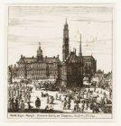 Stadt huys, Waegh, Nieuwe Kerk en Tooren, sedert Ao. 1655