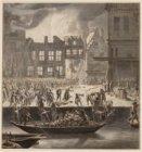 Het blussen tijdens de brand van het oude Stadhuis, op 7 Juli 1652