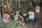 Polderweg 120. Grafmonumentjes op de dierenbegraafplaats van Dierenopvangcentrum…
