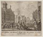 De Lijkbaar van Daniël Raap door het gemeen vernield. 15 Jan. 1754