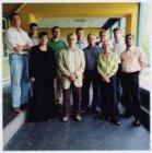 Kleiburg 5-7; groepsfoto van de medewerkers van de Projectgroep Kraaiennest