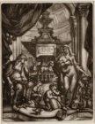 Prent naar aanleiding van het overlijden van Jacobus Houbraken (1698-1780), grav…