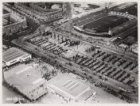 Luchtfoto van het oude Stadion (1913-1930), Amstelveenseweg 263, en het Stadionp…
