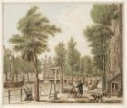Geldersekade bij de Bantammerbrug, gezien vanaf de hoek van de Ridderstraat (nu …