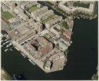 Luchtfoto van het Windroosplein en omgeving, gezien in noordwestelijke richting