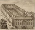 De BEURSE der Stadt Amsteldam is begonnen inden jaere 1608 ende volbouwt Anno 16…