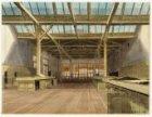 Het interieur van de Hulpkorenbeurs aan de oostzijde van het Damrak, achter de B…