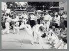 Judo-demonstratie op de Brink voor de Openbare Bibliotheek tijdens de braderie t…