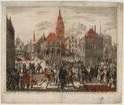 D'afbeelding hoe men de Magistraet en geestelykheyt der stadt Amsterdam heeft uy…