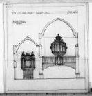 De plaatsing van een orgel op de muziekgalerij van de Grote Walenkerk, Keizersgr…