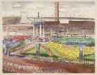 Overzicht van het Olympisch Stadion tijdens het Pontificaal Lof