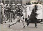 Rellen tijdens de ontruiming van het kraakpand De Vogelstruys, Herengracht 329