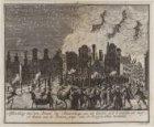 Afbeelding van den brand des Schouburgs zoals deselve zich 's avonds bij half 10…