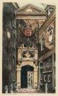 Het hoofdingangspoortje van het Burgerweeshuis, Kalverstraat 92, gezien vanaf de…