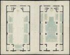 Zitplaatsenplattegronden van de Nieuwe Walenkerk, Keizersgracht 676, getekend do…