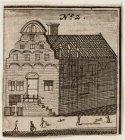 Voor-en zijaanzicht van het Makelaarskantoor, Nieuwezijds Voorburgwal 75 en hoek…