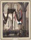 Onthulling van het monument voor Van Speyk in de Nieuwe Kerk